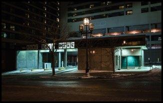 Bank at night, Duluth, MInnesota